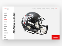Football Helmet Store Web Design