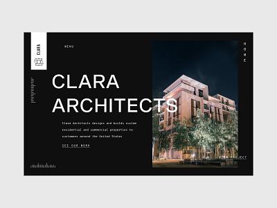 Architecture Firm Landing Page monotype ux website design web design ux design clean ui black  white dark ui sans serif large type landing page architect architecture