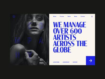 Musician Agency Website