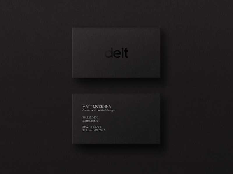 Delt Business Card Designs agency branding identity design business card black brand identity branding logo design logo business card design business cards businesscard print design print