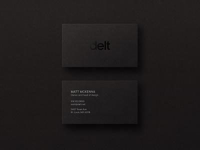 Delt Business Card Designs agency branding identity design business card black brand identity branding logo design logo business card design business cards businesscard print design print