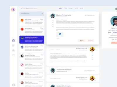 Email Web App V2 software website design web design ui chat contacts client management clients project management desktop application desktop app application web app email client email dashboard dash app
