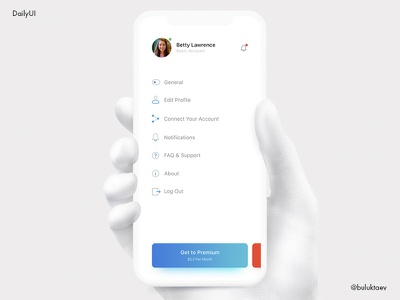 Daily UI #007 Settings iphonex mobile ios settings day007 dailyui daily100 concept app