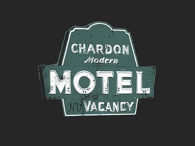 Chardon Modern Motel sign neon