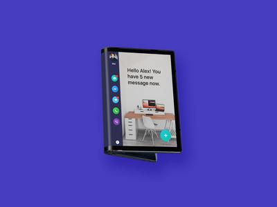 Flexible screen mobile Mock Up