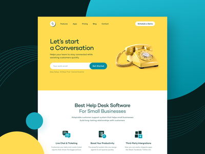 Customer Support Platform Landing Page typography web application illuminz icons product design web design campton contrast customer support chat landing page concept user interface ui ux website design website landing page landing