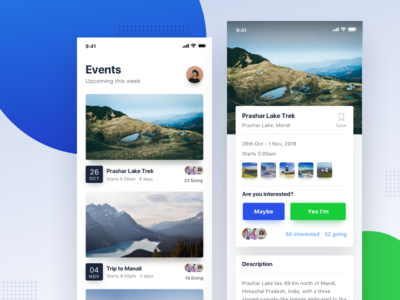 Events Mobile Application Design card clean minimal user interface typography ui ux ios ui design travel feeds events mobile app