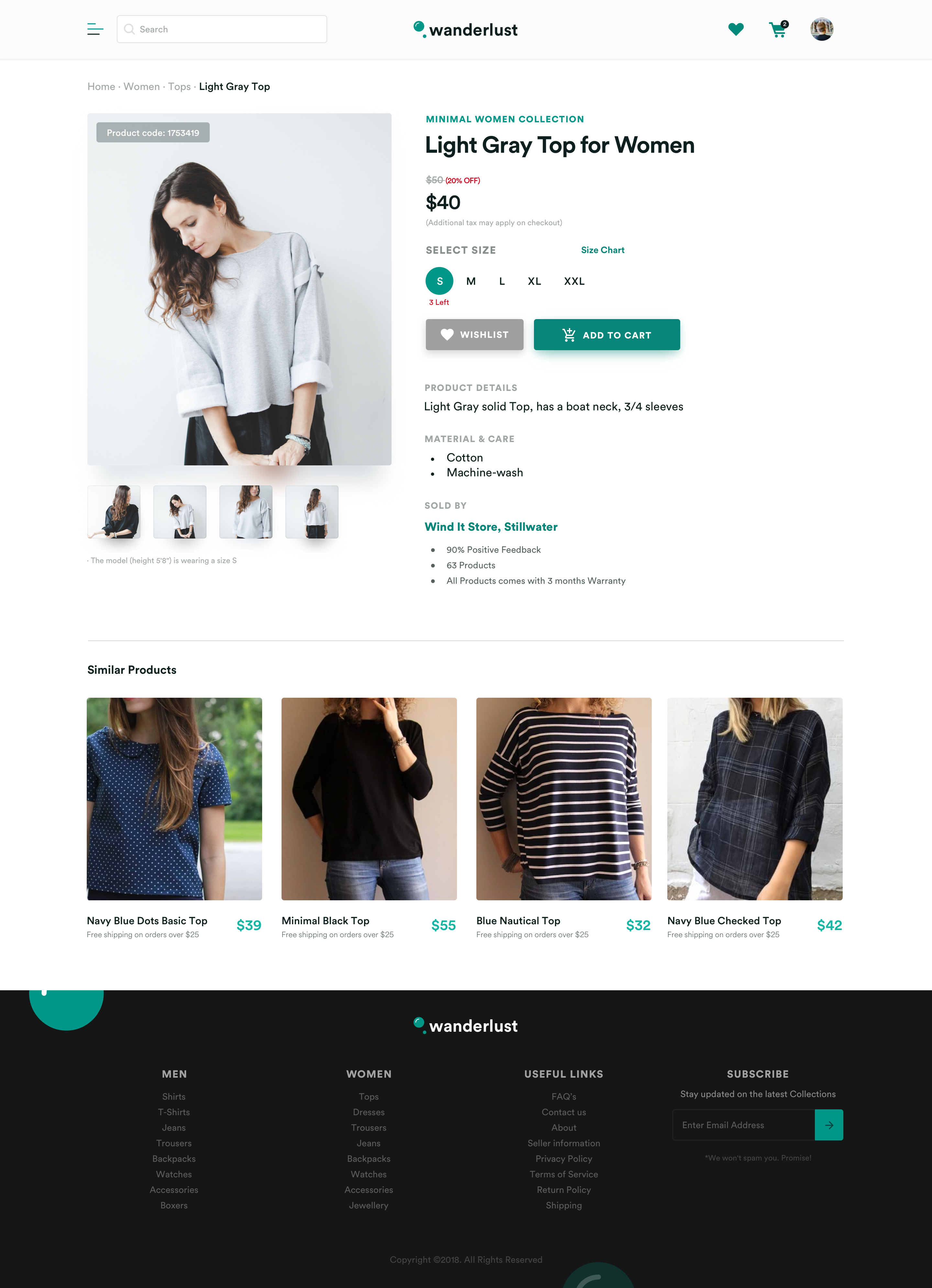 40 Attractive E-Commerce Product Page & Card UI Designs