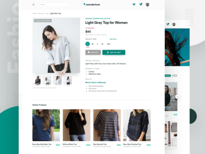 E Commerce Website - Product Detail Page Design