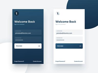 Customer Support App Login UI Design android ios app web clean dark ux design welcome screen signup login colors typography minimal user interface ui ux website ui design mobile app