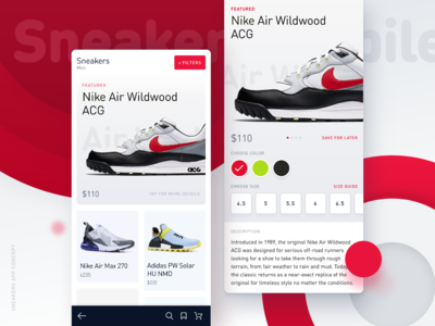 Sneakers Store Mobile App Design (InVision Studio) cart detail page clean website store design animation application ecommerce shop ux mobile android ios ui app mobile app user interface ui ux ui design typography