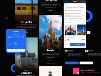 Travel Exploration App Design Made with Studio
