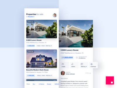 Real Estate Marketplace Mobile App Design graphik typography listing android ios detail page cards filters booking app flats home marketplace properties mobile user interface app ui design real estate ui ux