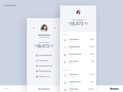 Mobile Banking App Concept - Light