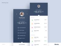 Mobile Banking App Concept Dark Version