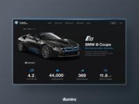 BMW i8 Web Design Concept