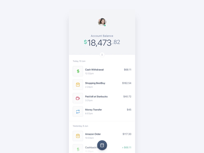 Mobile banking app interaction