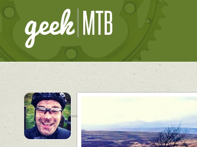 Geek mountain biking green