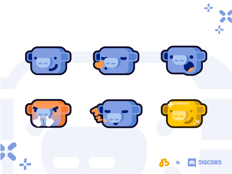 Discord Emote Reactions - Wumpus illustration games emotion icon emoji vector cartoon wumpus reaction emote discord