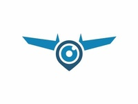 Pin, Camera And Drone Logo Idea