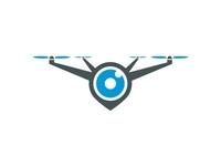 Drone, Camera And Pin Location Logo Design