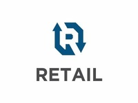 letter R initial Retail Logo Icon Design Concept