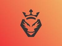 Dragon King Logo Icon Vector