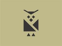 Simple Owl Logo Icon Vector