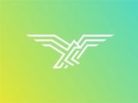 Monoline Eagle logo Icon