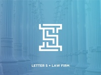 Letter S initial + Law Firm Logo Icon Concept