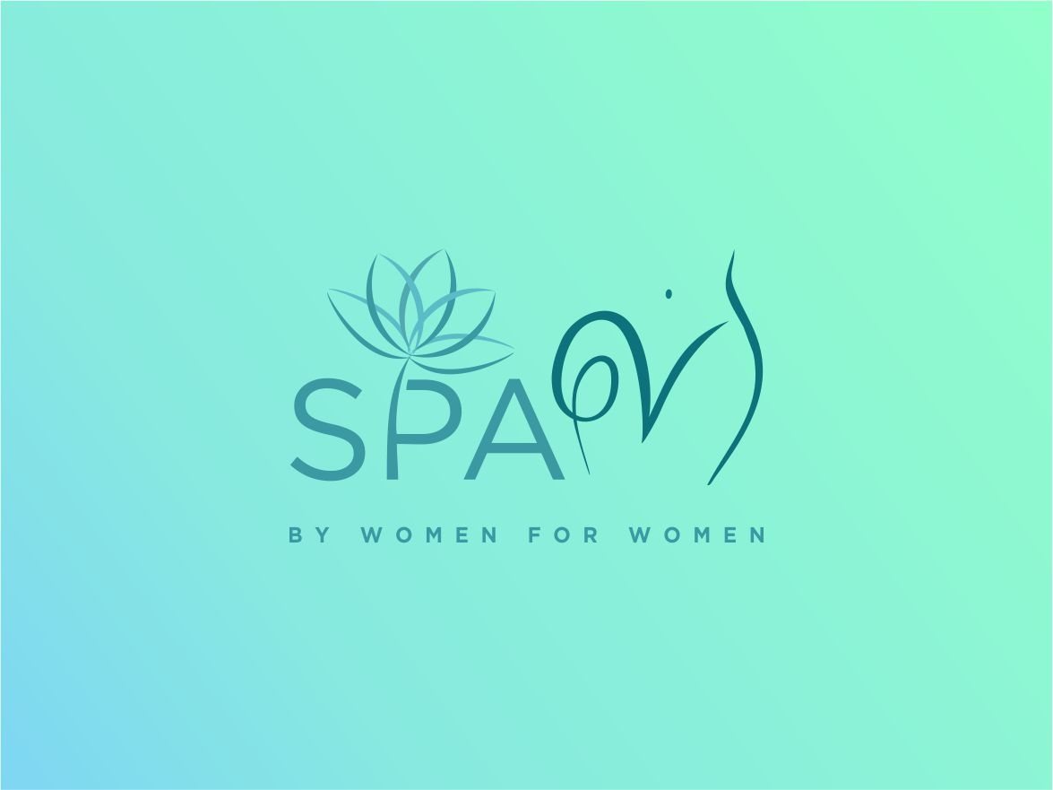 Spa V logo concept intimate girlfriend wife wordmark concept logo marriage sex lifestyle health body female gender care vagina miss v girl women beauty spa