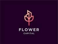 Flower Capital Logo Concept