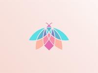 Geometric Colorful Firefly Logo Icon
