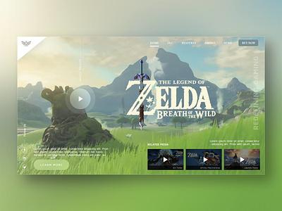 Zelda Homepage Concept botw hyrule zelda web design userexperience ux ui