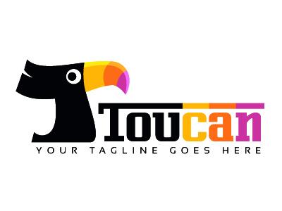Toucan Logo Design toucan logo design bird capital letter t template