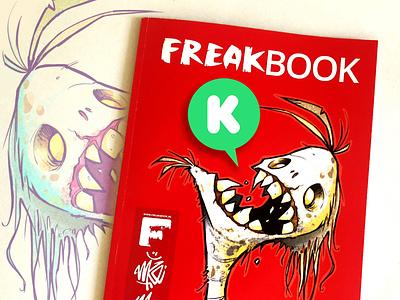 FREAKBOOK 'Reloaded' art creature freak zombies concept art character design freakbook artbook