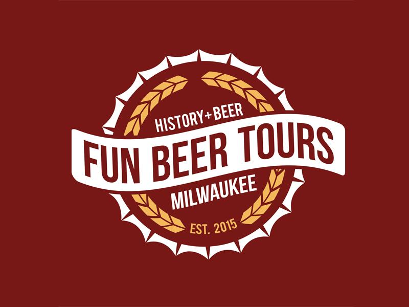 Fun Beer Tours Milwaukee: Brand Identity design branding history brewery tourism beer