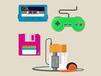 Retro Tech - Vector Illustrations