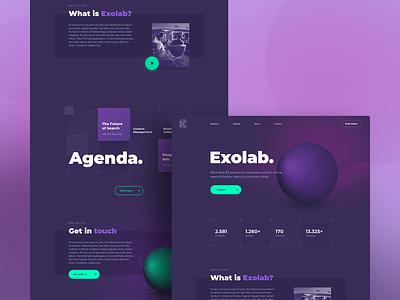 Exolab Homepage (concept) gradient web webdesign website concept uidesign ui landing page homepage design