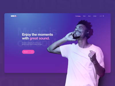 MOUS / Music is our Soul xd identity clean website type ui flat minimal branding web ux typography design