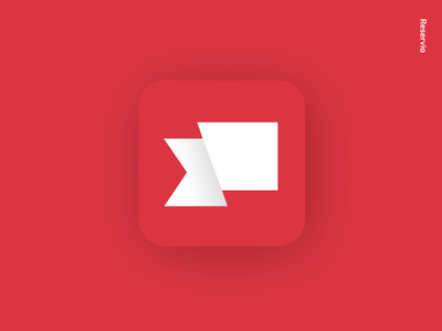 Reservio Lyfestyle App Logo ios rebranding minimalism abstract app reservio scheduling software app branding mobile logotype design logo mobile app