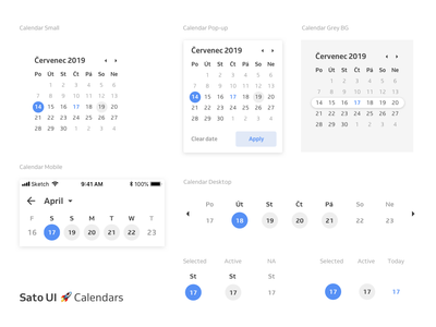 Sato UI 🚀Date Picker & Calendar appointment booking appointment date selector popup product design date picker ui details calendar app booking app design app ui design date month sato ui design system calendar ui elements ui mobile app
