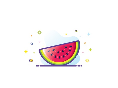 Watermelon 🍉💦⛱️☀️😋 icon web ui  ux design ui graphic  design graphic illustrator vector artwork vector art vector illustration art illustration watermelon