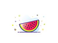 Watermelon 🍉💦⛱️☀️😋