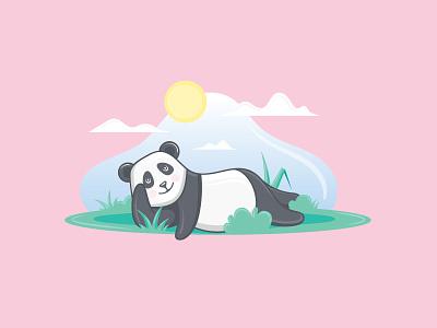 Panda Illustration 🐼 illustrations panda vector art digital illustration digital painting illustration design illustration art graphic design artwork artist graphic vector illustrator design illustration