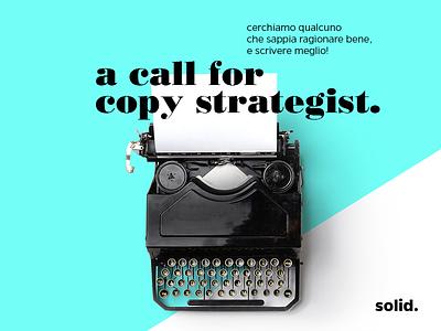 We are hiring! caserta callforcopy media social position open strategist copy work hiring job