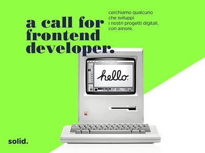 We are looking for a Front-end developer! html wordpress job position hiring digital web ux ui developer front-end caserta