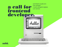 We are looking for a Front-end developer!
