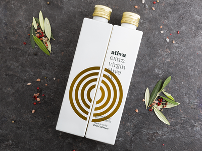 Alivu - Extra virgin olive oil pack italy food sicily olive naming bottle oil pack brand branding packaging