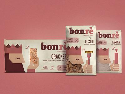Bonrè - la bontà è reale flour good king gluten free pasta food brand branding packaging